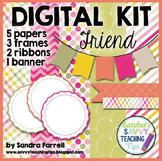 Digital Paper and Frame Mini Kit FRIEND