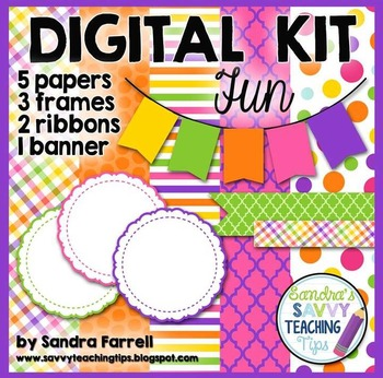 Digital Paper and Frame Mini Kit FUN