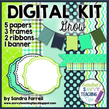 Digital Paper and Frame Mini Kit GROW