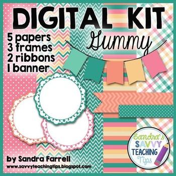 Digital Paper and Frame Mini Kit GUMMY