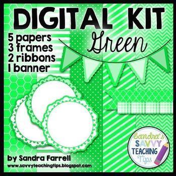 Digital Paper and Frame Mini Kit GREEN