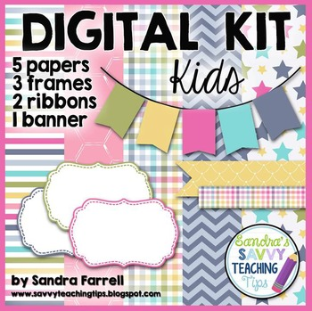 Digital Paper and Frame Mini Kit KIDS