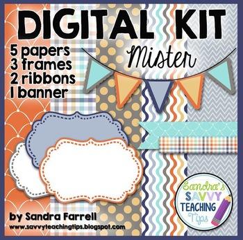 Digital Paper and Frame Mini Kit MISTER