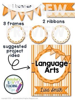 Digital Paper and Frame Mini Kit ORANGE