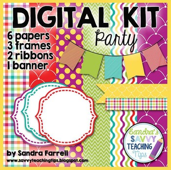 Digital Paper and Frame Mini Kit PARTY