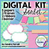Digital Paper and Frame Mini Kit SORBET