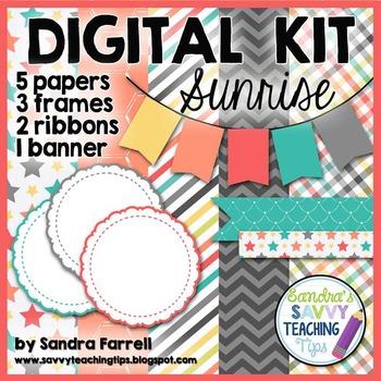 Digital Paper and Frame Mini Kit SUNRISE