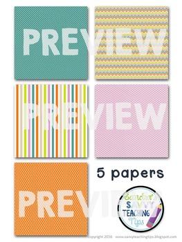 Digital Paper and Frame Mini Kit UMBRELLA