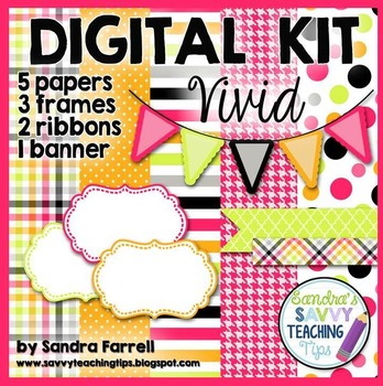 Digital Paper and Frame Mini Kit VIVID