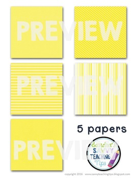 Digital Paper and Frame Mini Kit YELLOW