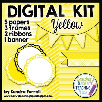 Digital Paper and Frame Mini Kit YELLOW