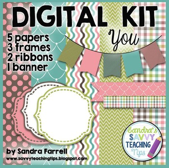 Digital Paper and Frame Mini Kit YOU