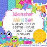 Digital Paper and Frame Monster Mini Set