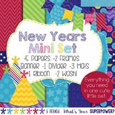 Digital Paper and Frame New Years Mini Set