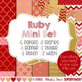 Digital Paper and Frame Ruby Valentines Mini Set
