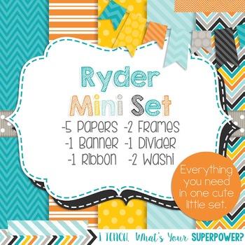 Digital Paper and Frame Ryder Mini Set