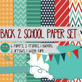 Digital Paper and Frame Set- Back to School