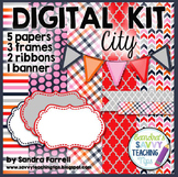 Digital Paper and Frame Mini Kit CITY