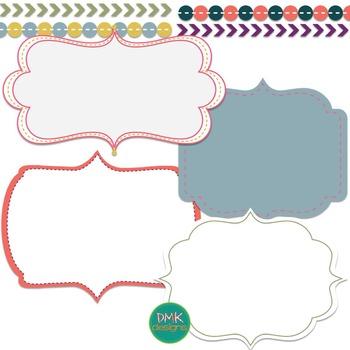 Digital Paper and Frame Set-Charm Biggie