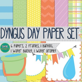 Digital Paper and Frame Set- Dyngus Day
