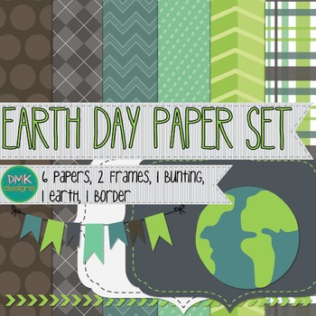Digital Paper and Frame Set- Earth Day