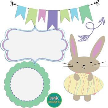 Digital Paper and Frame Set- Easter