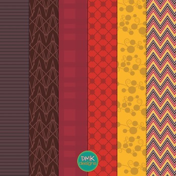 Digital Paper and Frame Set- Fall Leaves