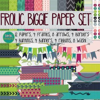 Digital Paper and Frame Set-Frolic Biggie