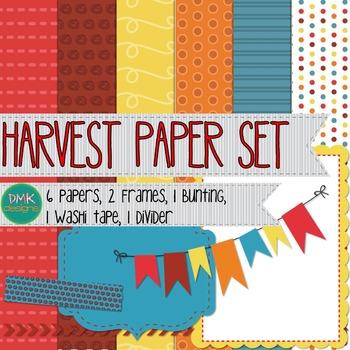 Digital Paper and Frame Set-Harvest
