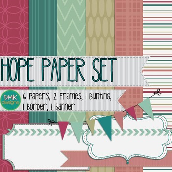 Digital Paper and Frame Set- Hope