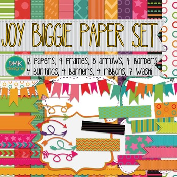 Digital Paper and Frame Set-Joy Biggie