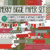 Digital Paper and Frame Set-Merry Biggie