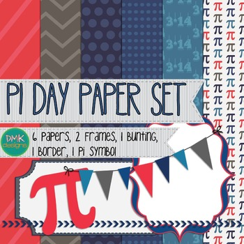 Digital Paper and Frame Set- Pi Day