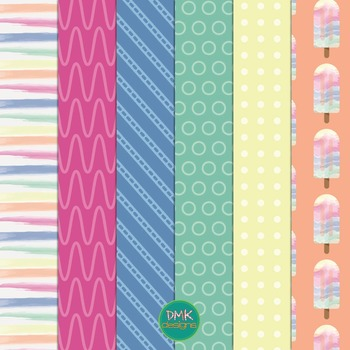 Digital Paper and Frame Set- Summer Chill