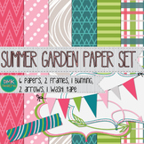 Digital Paper and Frame Set- Summer Garden