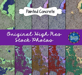 Stock Photos: Painted Concrete
