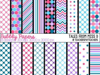 Bubbly Digital Papers