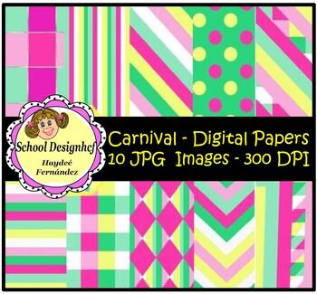 Digital Papers - Set Carnival (School Designhcf)