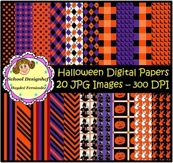 Digital Papers Halloween