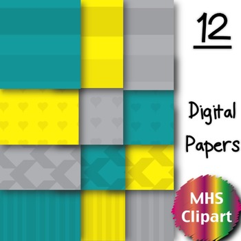 Digital Papers- 3 Colors