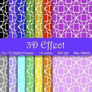 Digital Papers - 3D Effect