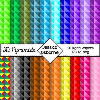 Digital Papers: 3D Pyramids