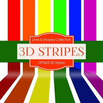 Digital Papers - 3D Stripes (DP3605)