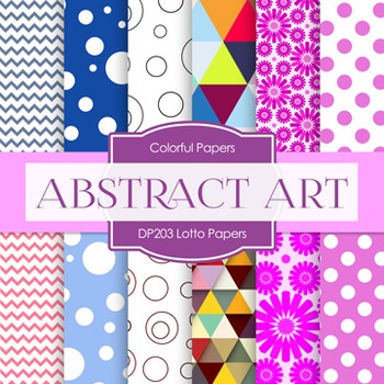 Digital Papers -  Abstract Art (DP203)