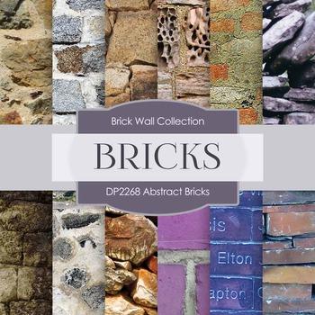 Digital Papers - Abstract Bricks (DP2268)