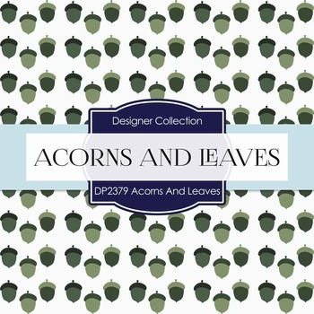 Digital Papers - Acorns And Leaves (DP2379)