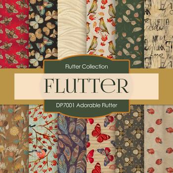 Digital Papers - Adorable Flutter (DP7001)