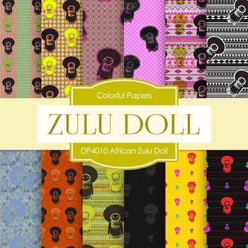 Digital Papers - African Zulu Doll (DP4010)