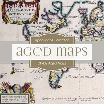 Digital Papers - Aged Maps (DP402)