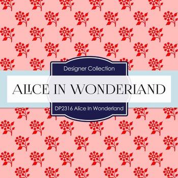 Digital Papers -  Alice In Wonderland (DP2316)